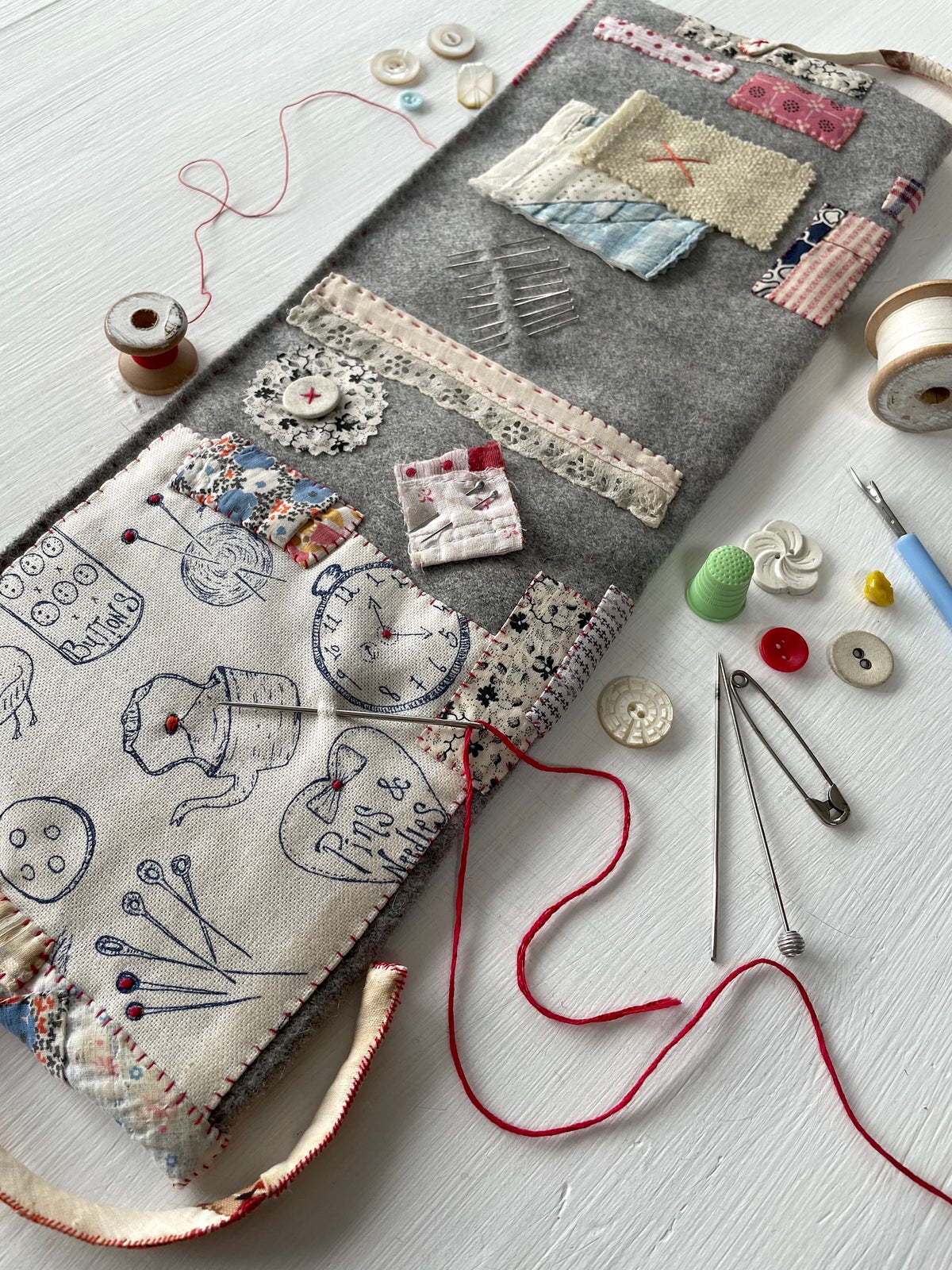 Image of 'Pins & Things' embroidery template