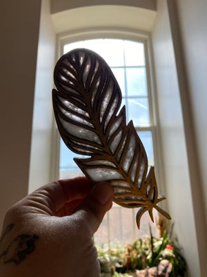 Image of Birch and Resin Bird Feather Light Catchers