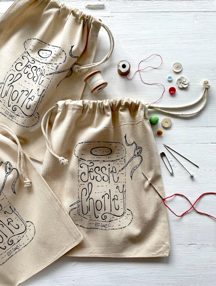 Image of Hand screen printed project bags