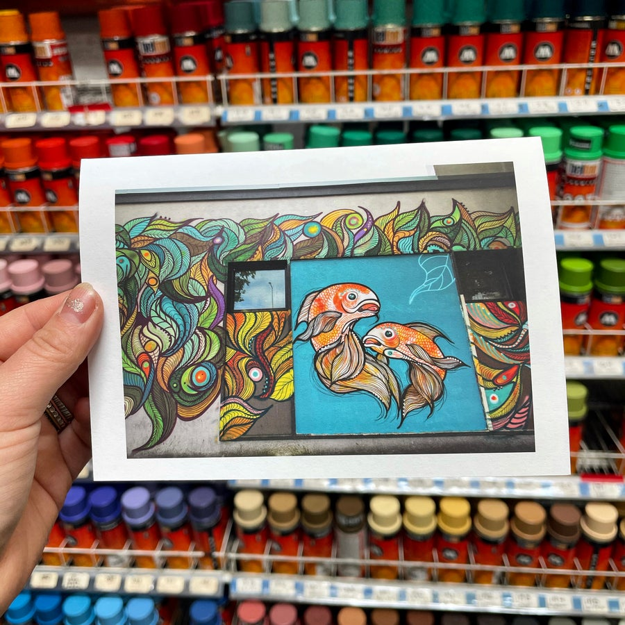 Image of Goldfish Mural • Blank Card