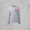 100% Organic Long Sleeve Grey Marl T-Shirt with Sun Logo
