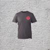 Dark Grey Marl Short Sleeve T-Shirt with Sun Logo