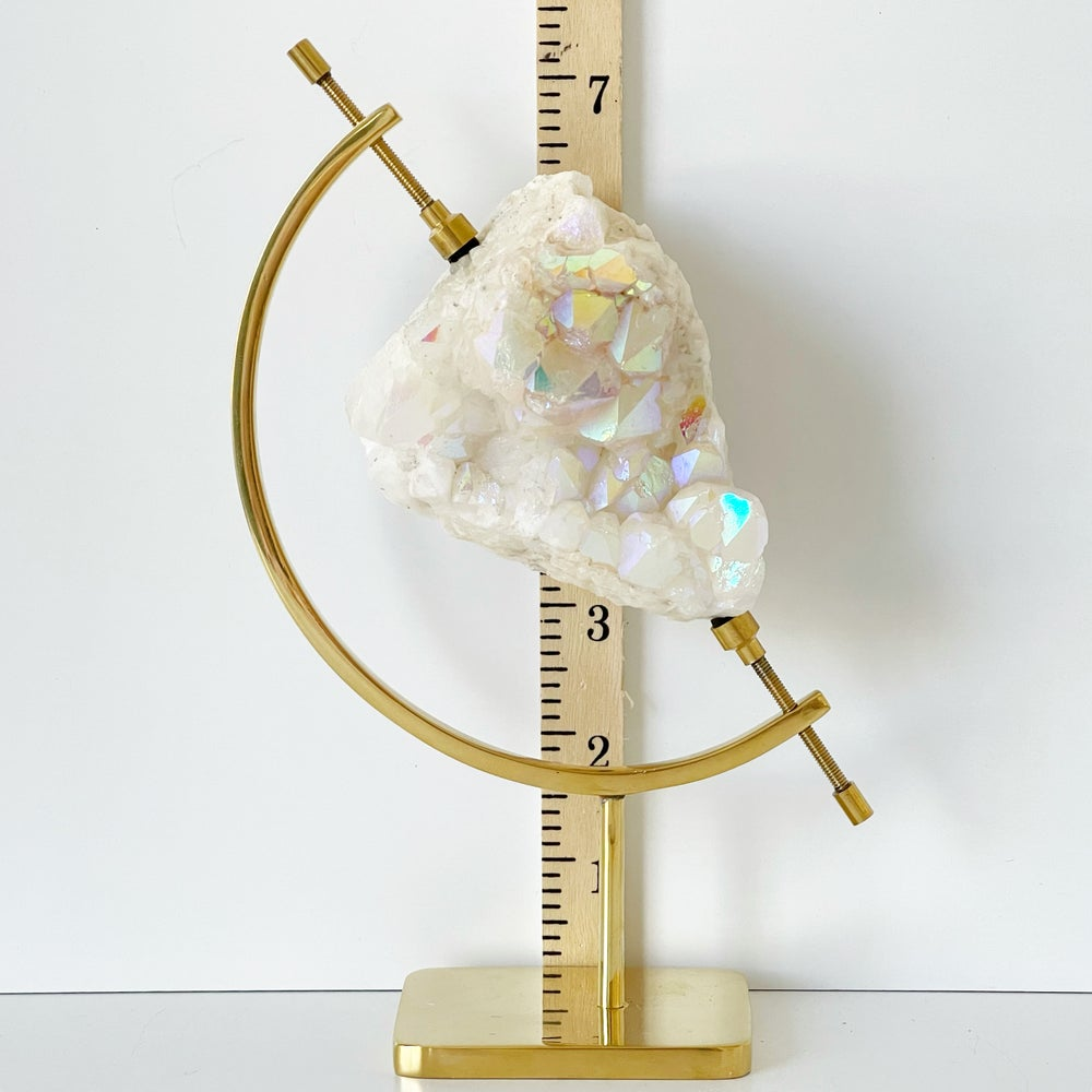 Image of Titanium Coated Quartz no.12 + Brass Arc Stand