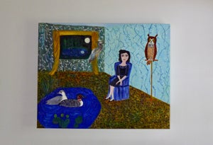 Image of In a better place. Original oil painting by Vivienne Strauss.