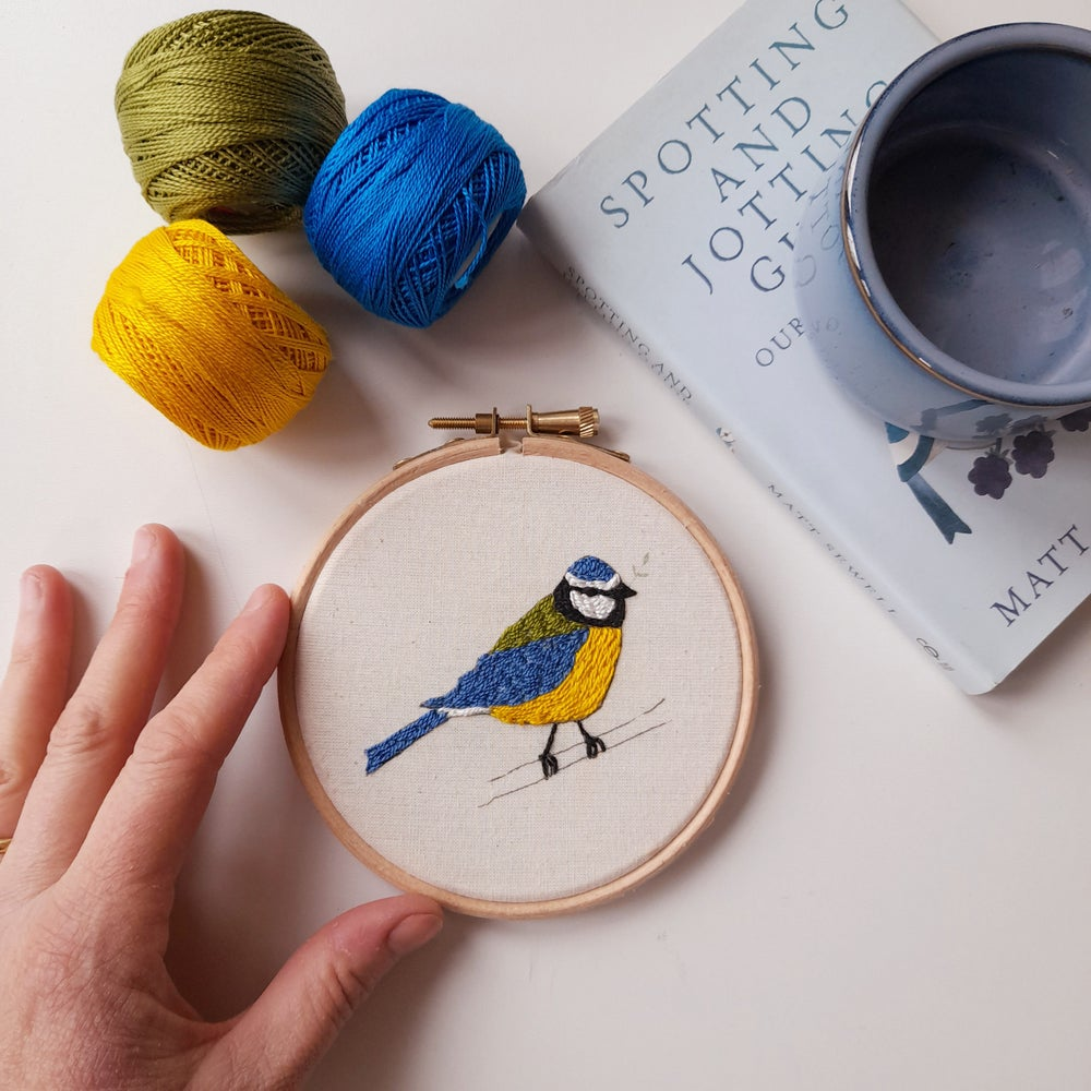 Image of Blue Tit Bird Embroidery Kit