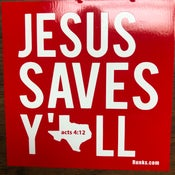 Image of Jesus Saves Y'all stickers