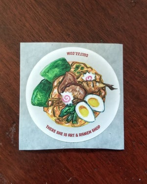 Image of There She Is Art & Ramen Shop sticker