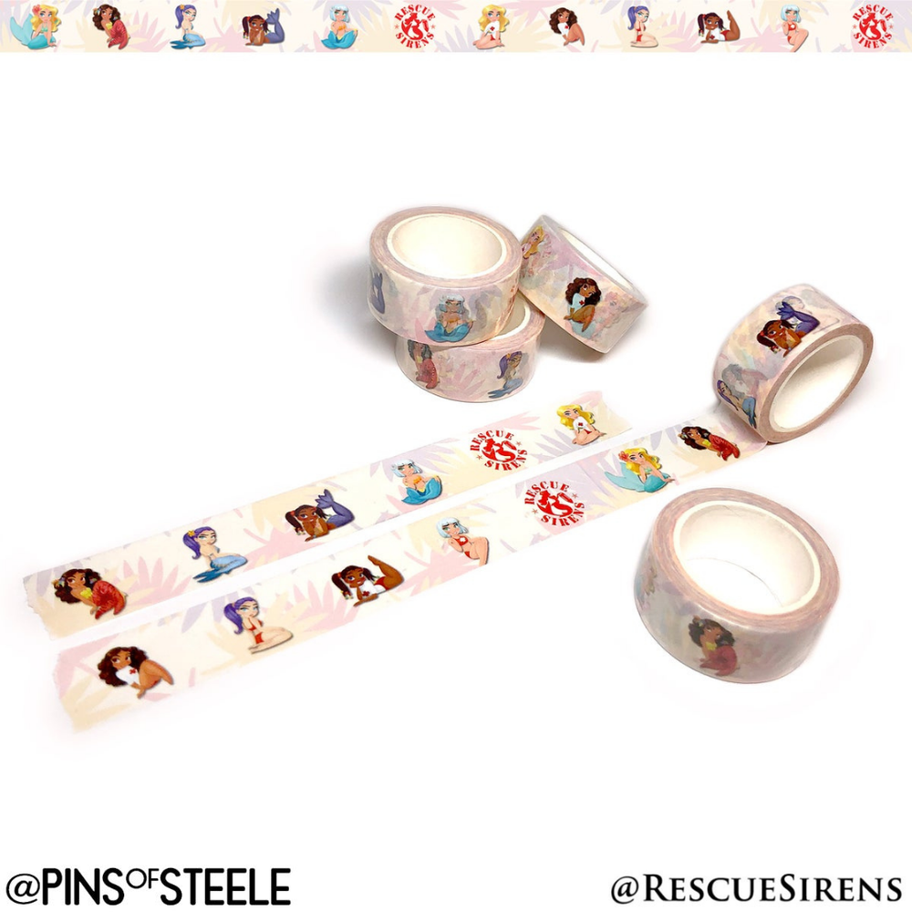 Image of Rescue Sirens Washi Tape (Artist: Gabby Zapata)