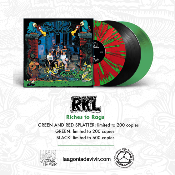"Image of PRE-ORDER NOW!!! LADV157 - R.K.L. ""Riches to Rags"" LP REISSUE"