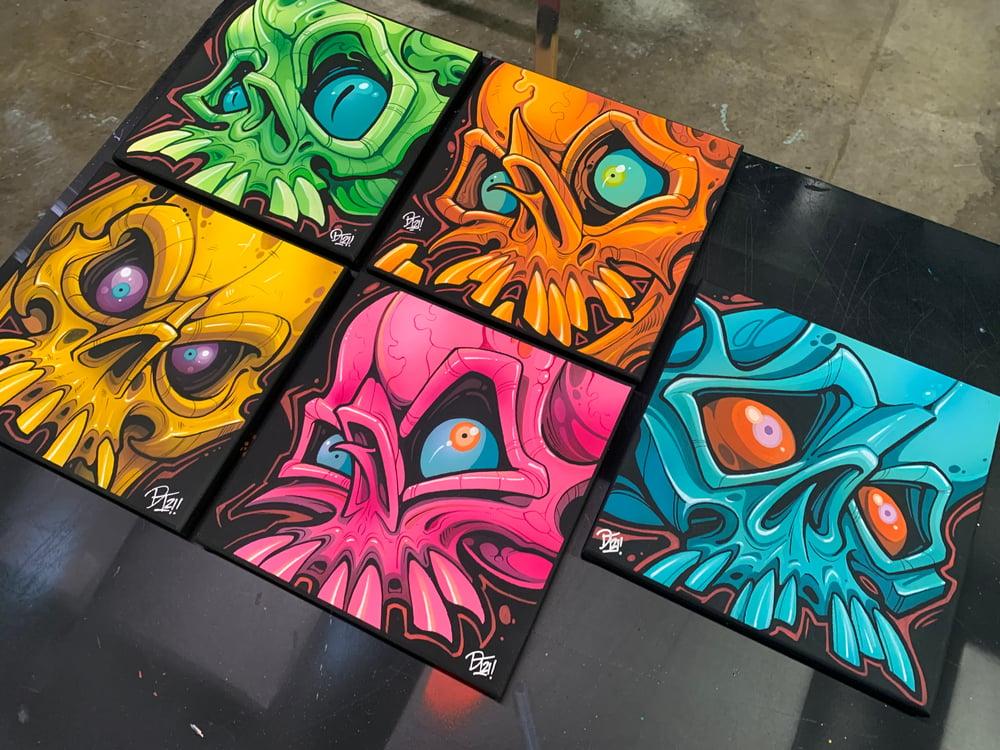 Image of 10x10 Psycho Skulls