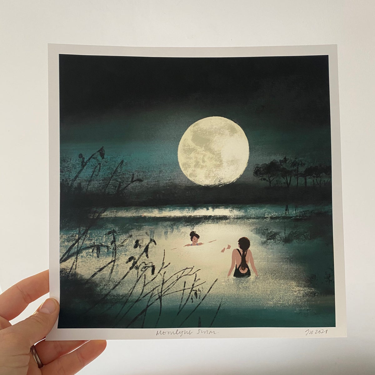Image of 'Moonlight Swim' Archive Quality Print
