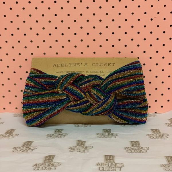 Image of Glitter-bomb headwrap