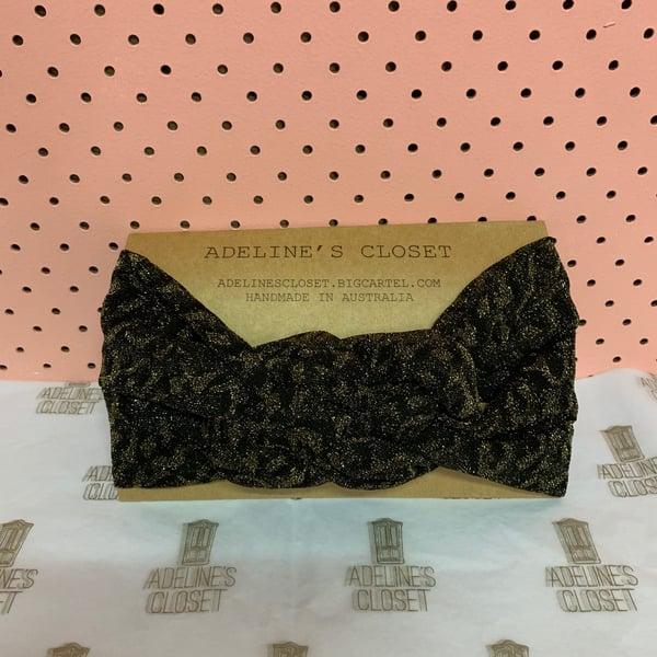 Image of Leopard glitter headwrap