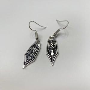 Sparkling Nib Drop Earrings