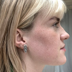 Sparkling Nib Earrings - studs