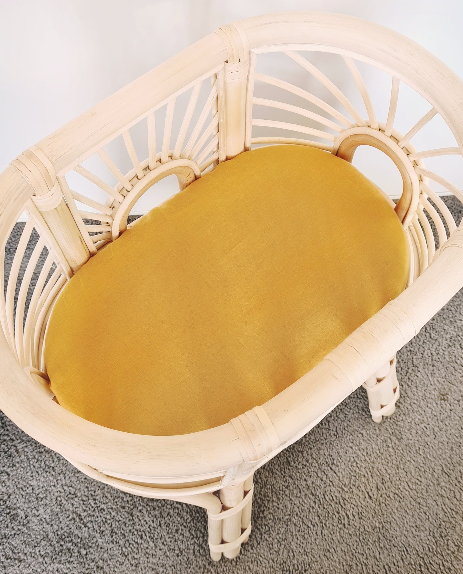 Image of Plain Mustard Fitted Sheets
