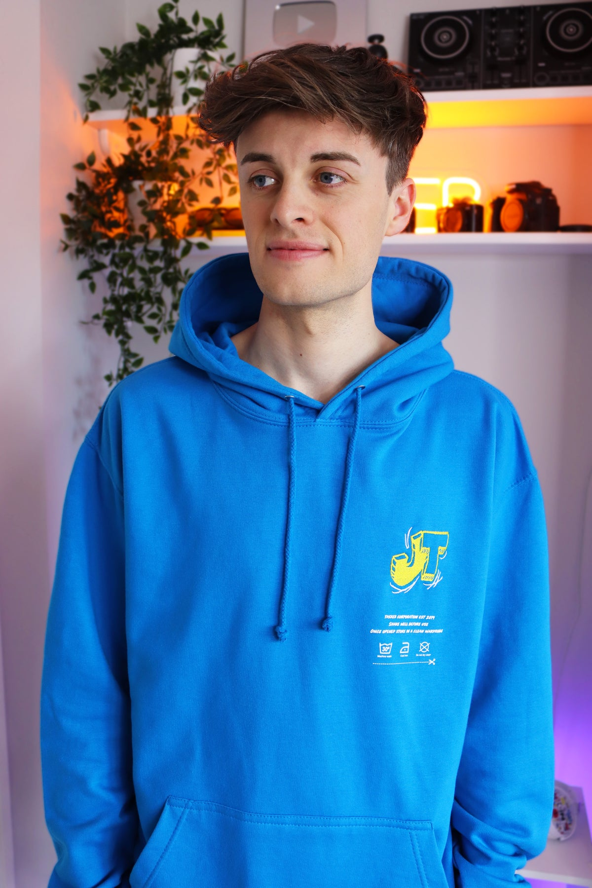 """Image of *NEW* Sapphire Blue """"JT"""" Hoodie"""