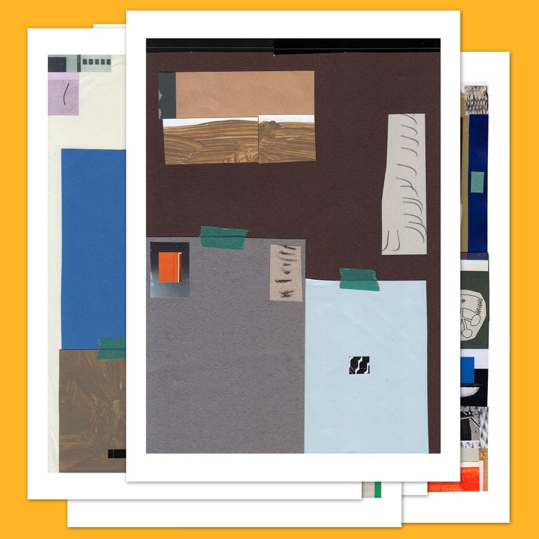 Image of 5 x Collage Postcards #2