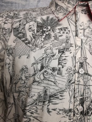 Image of Day of the dead pirates men buttons up shirt
