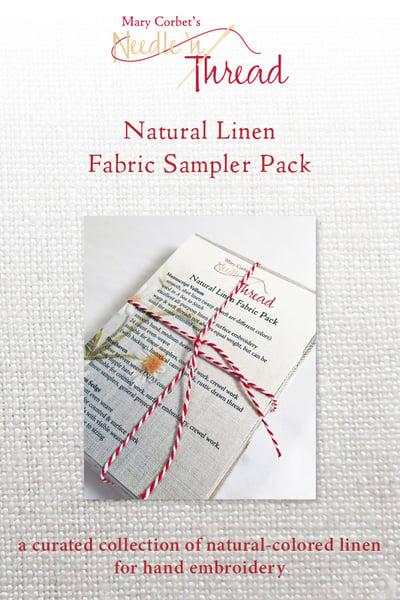 Image of Natural Linen Fabric Sampler Pack