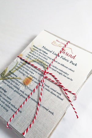 Image of Natural Linen Fabric Sampler Pack