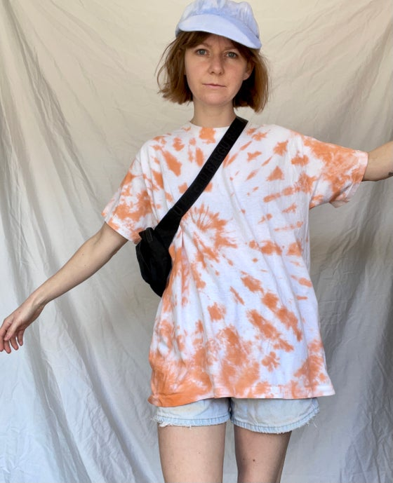 Image of Tangerine Spiral Tie Dye