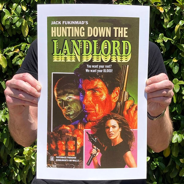 Image of Hunting Down the Landlord  - 11 x 17 Print
