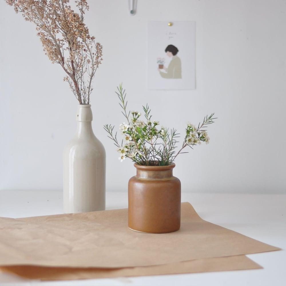 Image of Pot et bouteille en grès
