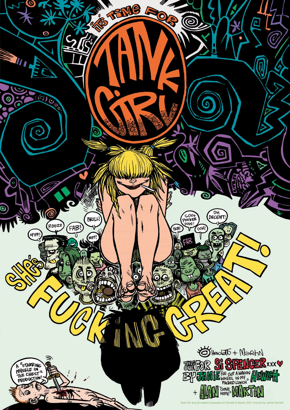 Image of NEW! SPRING INTO TANK GIRL POSTER MAGAZINE with MINI TATTOO DESIGN BOOK! (SECOND EDITION)