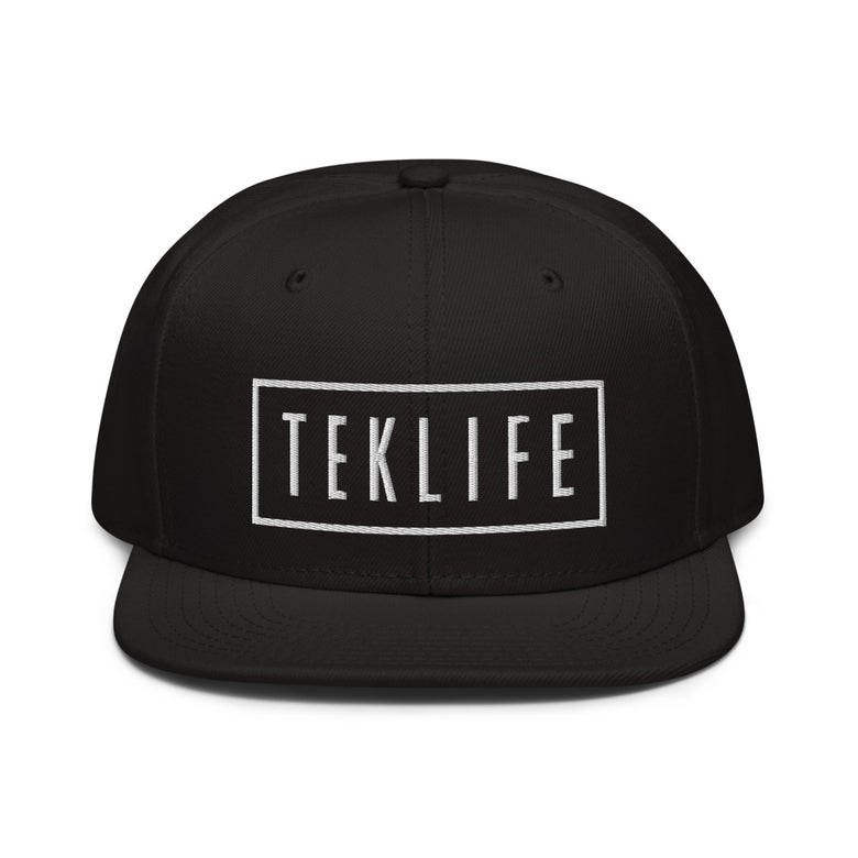 Image of TEKLIFE snapback Black / grey Sample