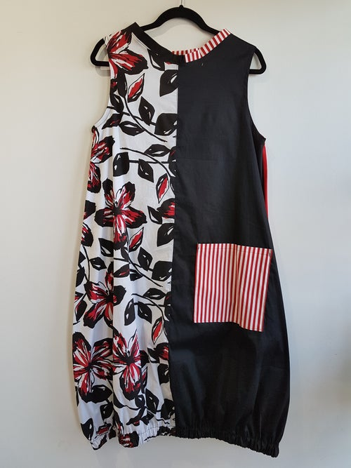 Image of black, white and red summer dress