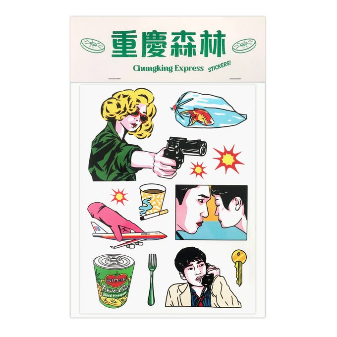 Image of Chungking Express sticker pack by K&N for Asian Film Archive – Retrospective: Wong Kar Wai