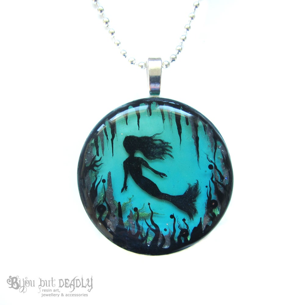 Enchanted Mermaid Resin Pendent