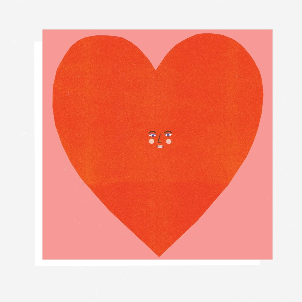 Image of Big Heart Face Card