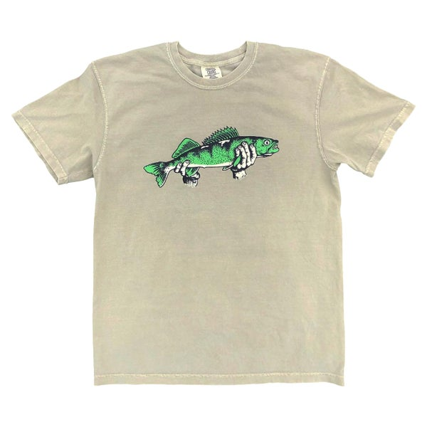 "Image of Khaki ""Walleye"" Tee"