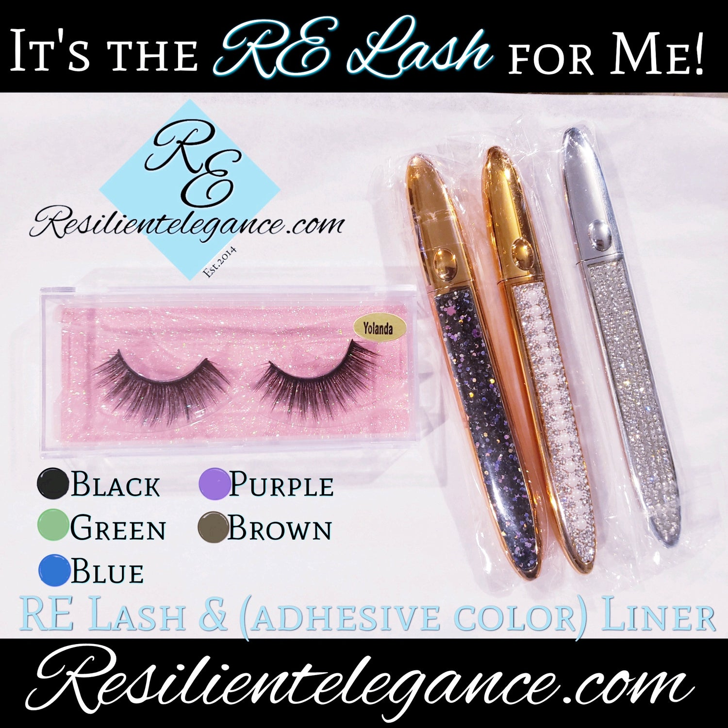 Image of RE Lash Set: Lashes •Adhesive Colored Liner