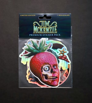 Image of Premium Sticker Pack - 5 Holographic Stickers - Limited Edition of 500