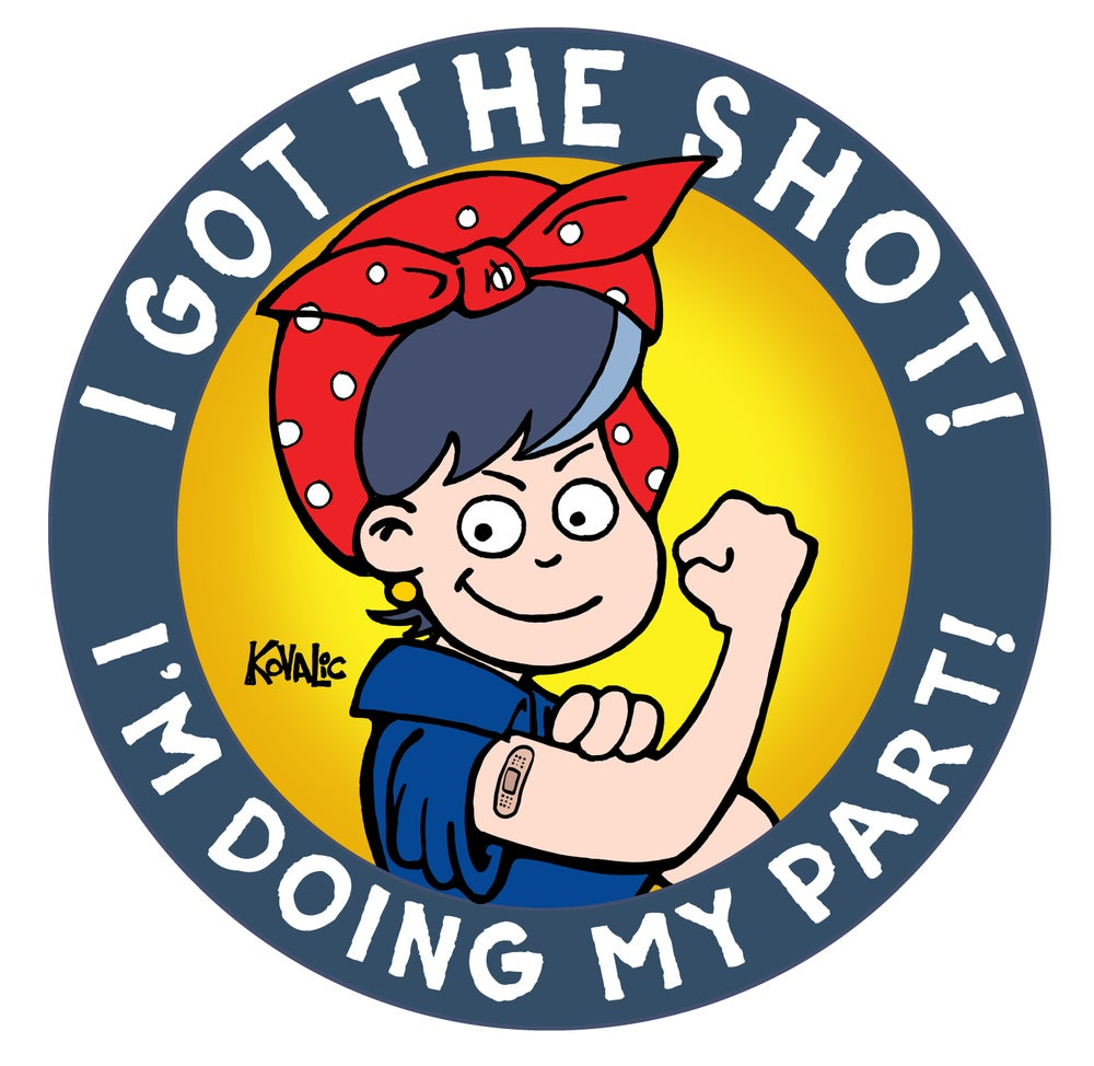 Image of I Got the Shot Sticker