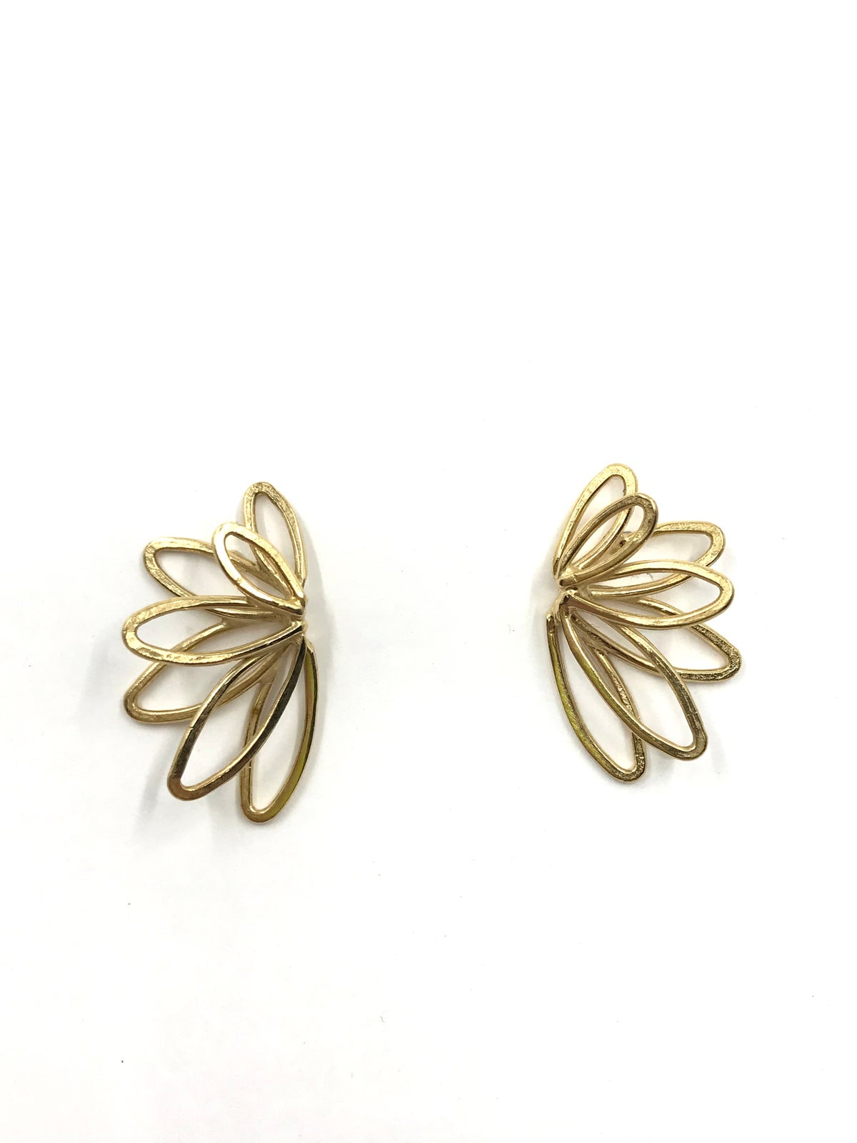 Gold Starburst Earrings by Leia Zumbro