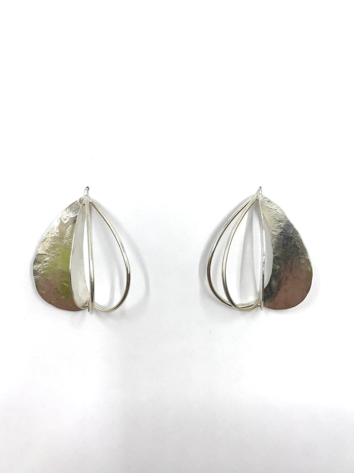 Silver 3D Pod Earrings by Leia Zumbro