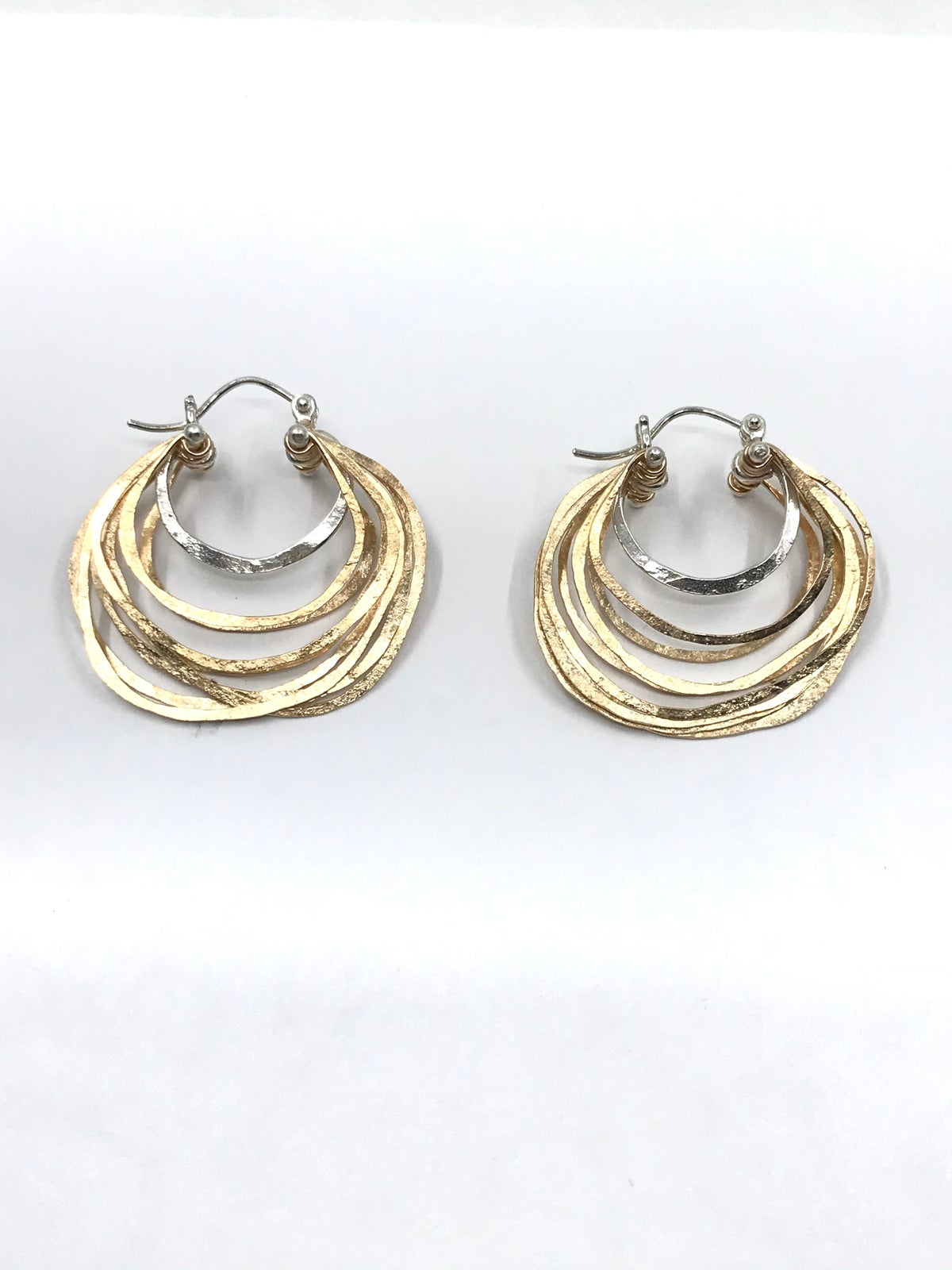 Gold Layered Earrings by Leia Zumbro