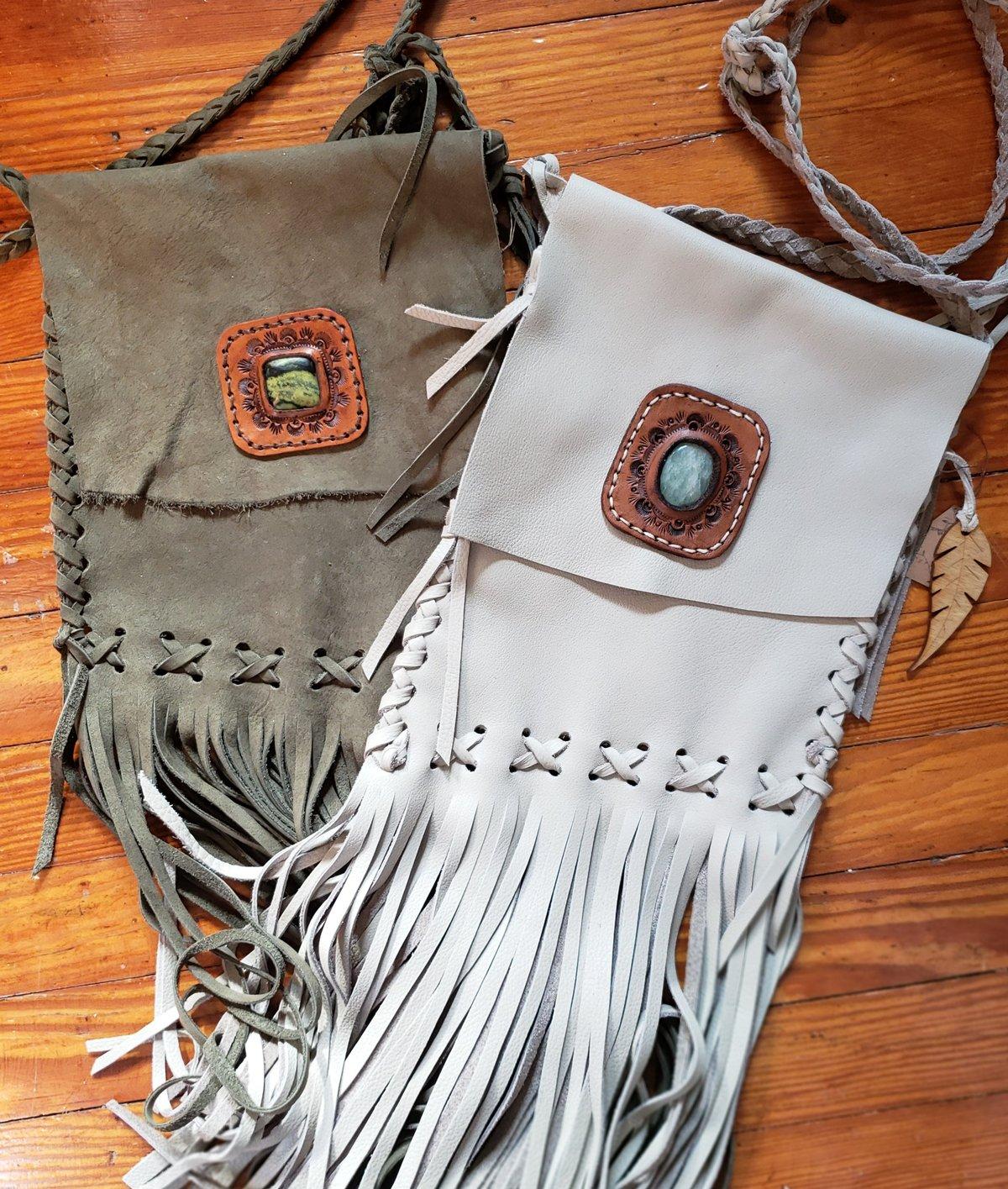 Stoned Fringe Bag
