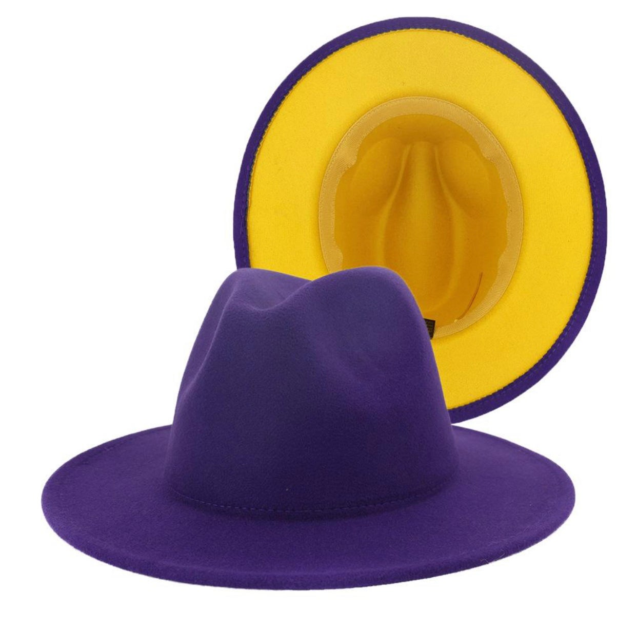 Image of Purple/Yellow Fedora