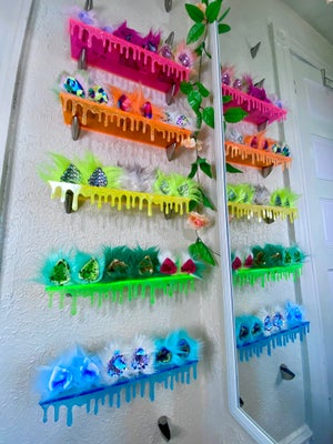 *Pre Order* Dripping Floating Shelves: Transparent Neon