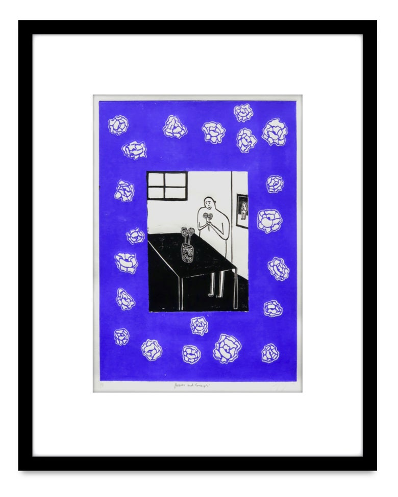 Image of Poppy Williams 'Peonies and creeps' - Original work on paper 2019