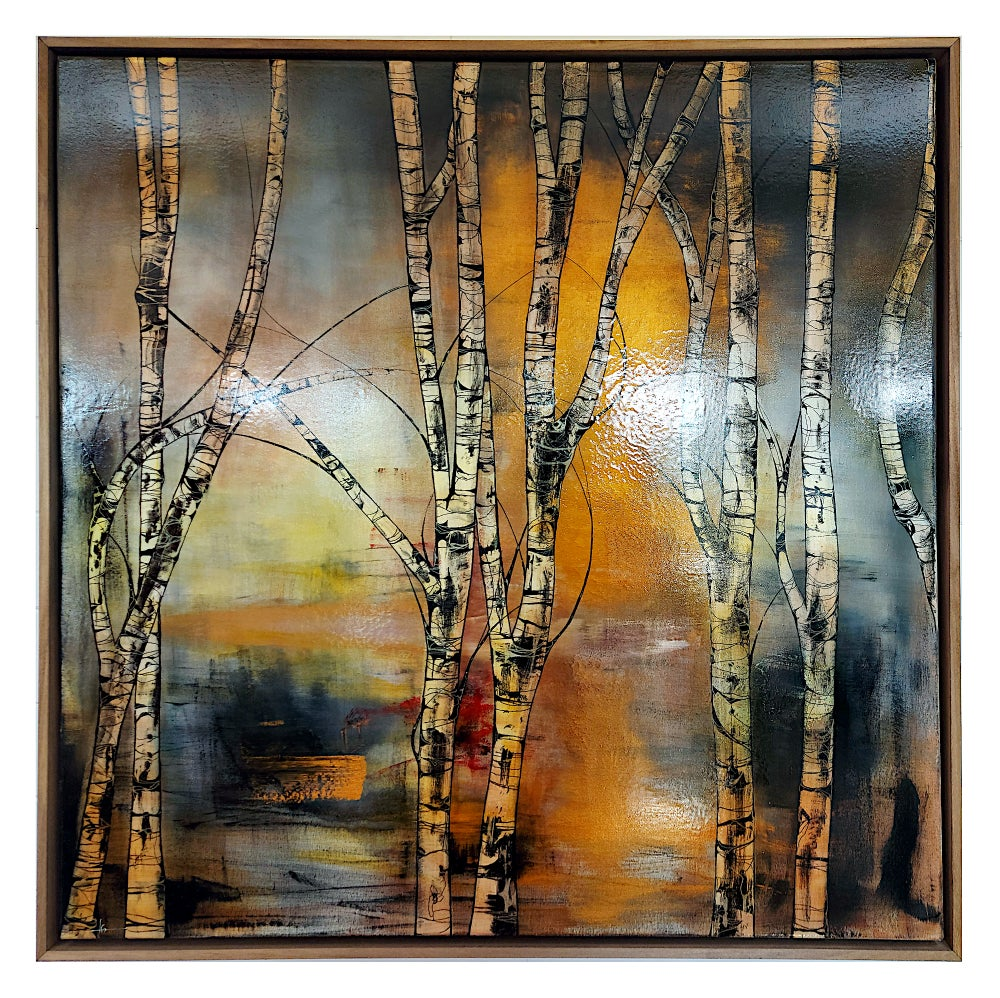 Image of Original Canvas - Silver Birches - 100cm x 100cm