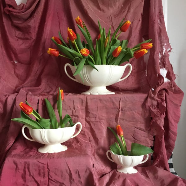 Image of Trio of mantle Vases - Sold separately