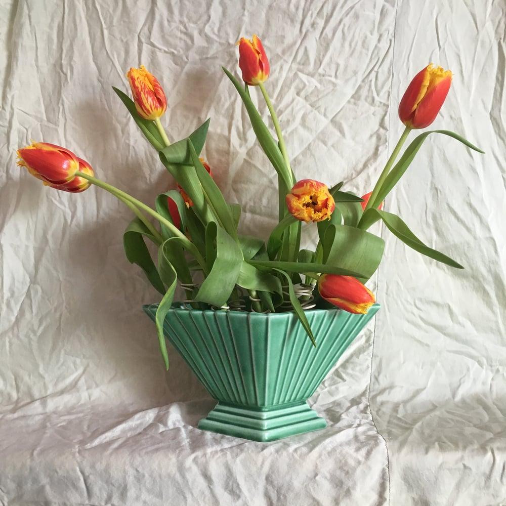 Image of Green diamond mantle vase