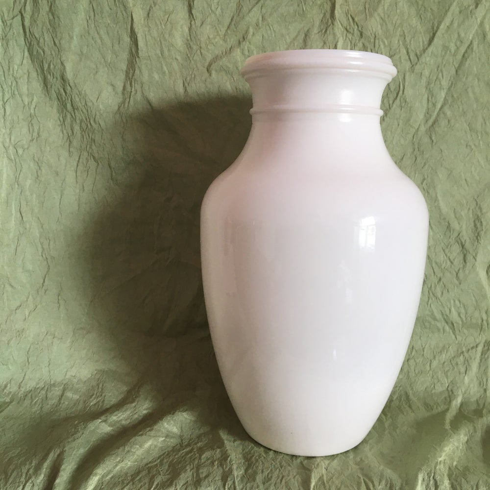 Image of Milk glass vase