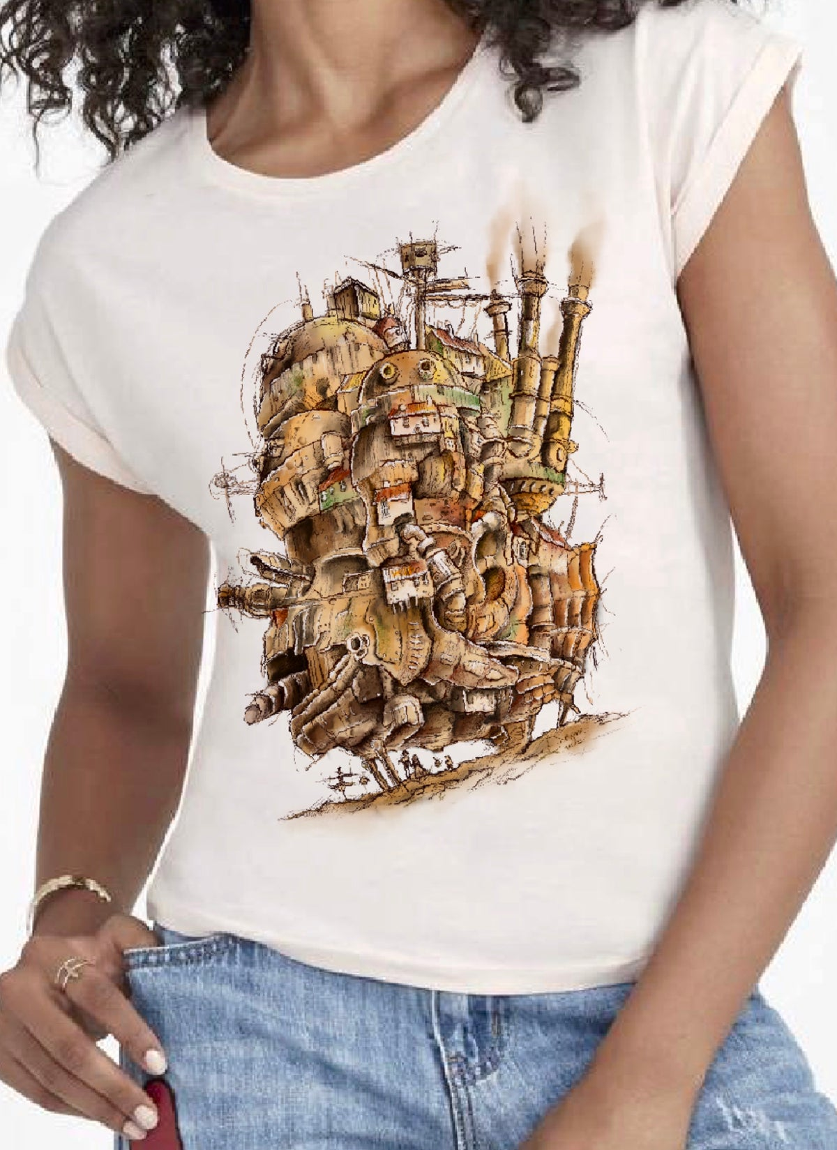 Camiseta chica - Howl's Moving Castle
